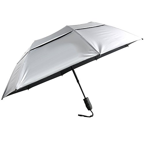 "Sun Tek 46"" UV Protection Vented Canopy Umbrella with Auto Open Telescopic Fiberglass Shaft"