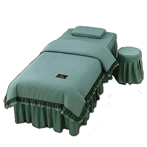 ASDF Elastische Massage-Physiotherapie-Tagesdecke, lichtecht, ges& & umweltfre&lich drucken & färben Bettdecke, Einzelbett, Blau-185 * 70 (Kreis)