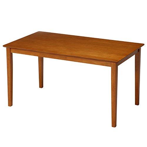 不二貿易 ダイニングテーブル 4人用 幅120cm ライトブラウン 天然木 簡単組立て スノア 96847