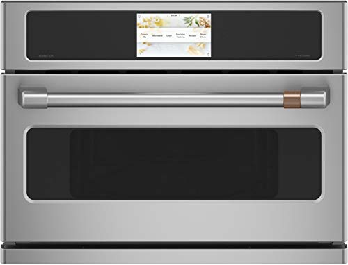 Cafe CSB912P2NS1 27 in. 1.7 cu. ft. Smart Electric Wall Oven and Microwave Combo with 120 Volt Advantium Technology in Stainless Steel