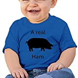 A Real Ham Baby T-Shirt Custom Personalized Baby Bodysuit One-Piece Baby Clothes Blue 6m