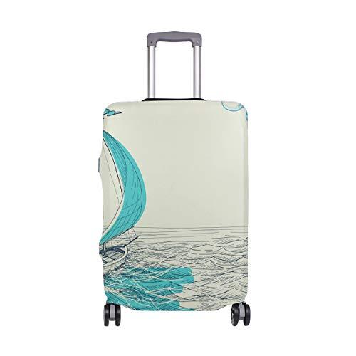 ALINLO - Funda para Maleta de Viaje de Estilo náutico Vintage para veleros de 18 a 32 Pulgadas, ljoljnz36374cb