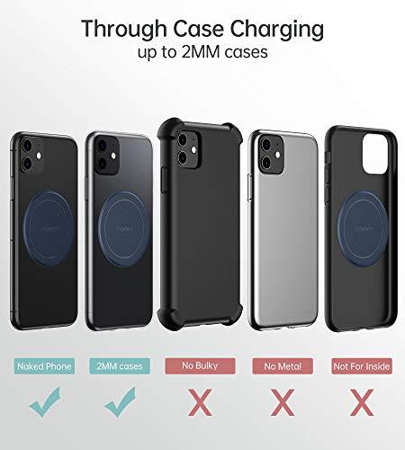 CHOETECH - Cargador inalámbrico rápido para iPhone XS Max/XR/XS/X/8/Plus, Cargador inalámbrico de 7,5 W Compatible con Galaxy Note 9/S9/Note 8/S8, 5 W, sin Adaptador de CA