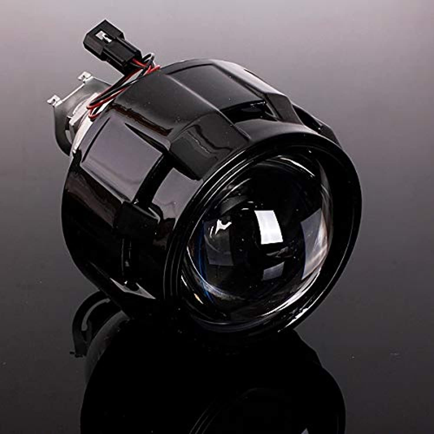 SalaStore  2.5 Inch Mini WST for HID BiXenon Projector Lens + Shrouds LHD RHD for Auto Angels Eye Headlight H1 H4 H7