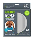 hownd Hero Dog Bowl Pet Products- Antimicrobial Dog Bowl - Actively Kills Microbes, Such as Bacteria, Mold and Fungi, up to 99.99% on Bowls Surface- Hygienic Dog Bowl (Large, Urban Grey)