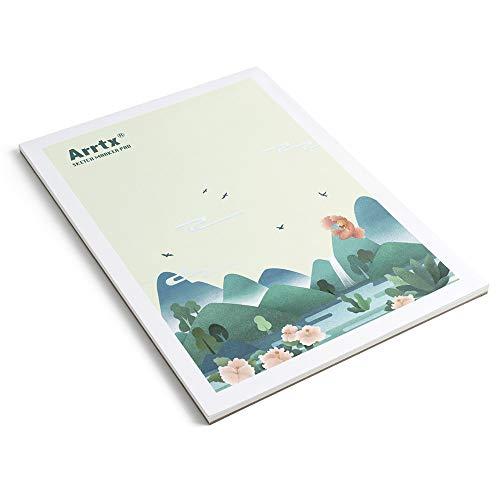Arrtx Markerpapier A4,8.3' x 11.7', 30 Blatt,56 lbs /120gsm, Kalt gepresst, Säurefrei Skizzenpapier, klebegebundener Malblock für Markers& skizzieren
