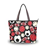 Sport Baseball Football Rugby modèle léger sangle sacs à bandoulière sacs à main sac à main Shopping sac fourre-tout pour femmes filles dames étudiant