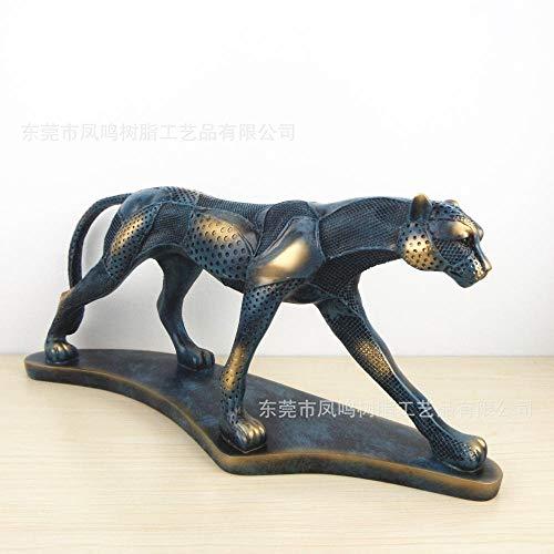 LPQA Escultura Figuritas Decorativas Estatuas Decoración De Leopardo Escritorio De Oficina Accesorios De Decoración De Gabinete De Vino