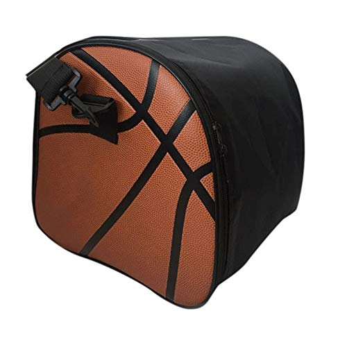 Zipper Workout Bag Basketball Equipment Bag - Portable Basketball Bag High-grad Pu Basketball Storage Bag Fitness Gym Sport Bag for Key Storage Water Glass and Shoe Lightweight and Large Capacity