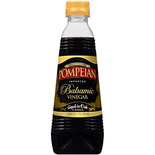 Pompeian Gourmet Balsamic Vinegar, Perfect for Salad Dressings, Sauces, Seafood and Meat Dishes, Naturally Gluten Free, Non-Allergenic, 16 FL. OZ., Single Bottle
