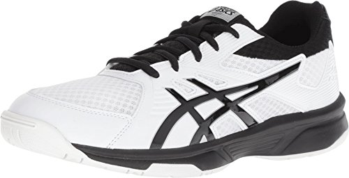 ASICS Men's Upcourt 3 Volleyball Shoes, 10, White/Black