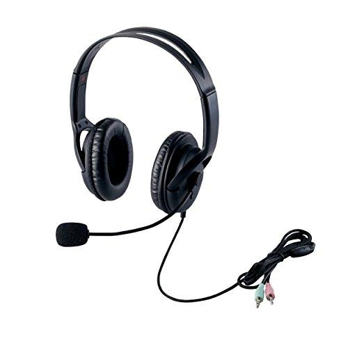 エレコム ヘッドセット マイク 両耳 オーバーヘッド 片出しケーブル 1.8m HS-HP28BK