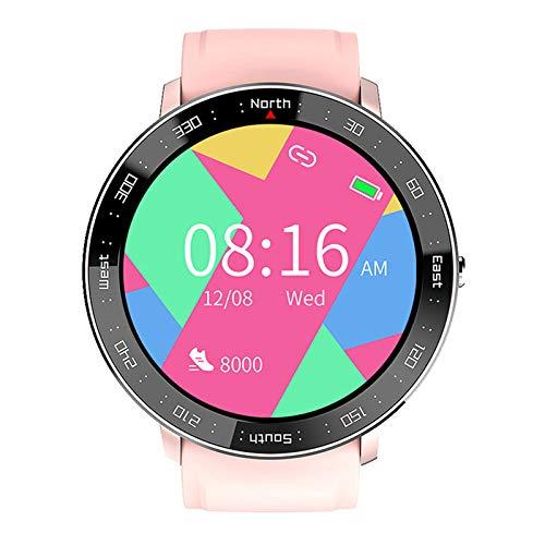 FMSBSC Smartwatch Reloj Inteligente para Hombres Mujeres, Monitor de Sueño Presión Arterial Pulsómetros, 5ATM A Prueba De Agua, Reloj Inteligente para Teléfonos Android iOS,Rosado