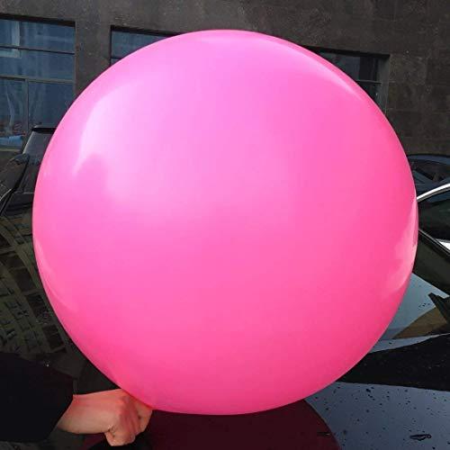 5 grote ballonnen - 36 inch ronde ballonnen - extra grote en dikke ballonnen Herbruikbare gigantische latex ballonnen voor bruiloft / verjaardagsfeestdecoratie, fotoshoot en festivals Kerstversiering (felroze)