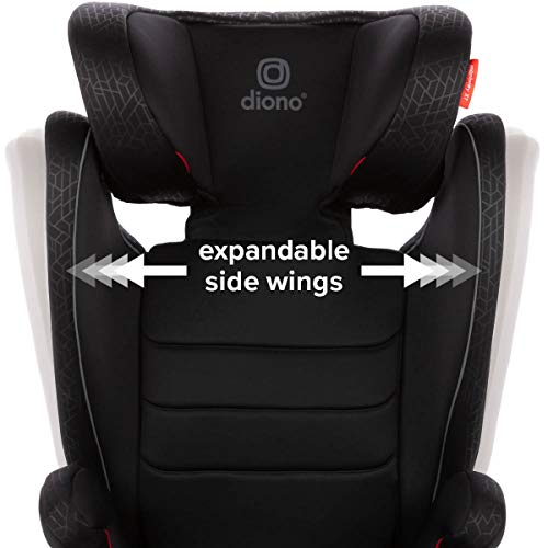 Diono Monterey XT Latch, 2-in-1 Belt Positioning Booster Seat with Expandable Height/Width, Black