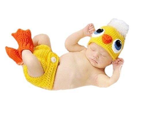 DELEY Unisexe Nouveau-né Canard Jaune Chapeau Pantalon de Bébé de Prise de Vue Photo Props