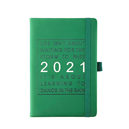 Xuebai Agenda escolar 2021, calendario mensual y semanal, con fecha, tamaño A5, papel más grueso, 400 páginas