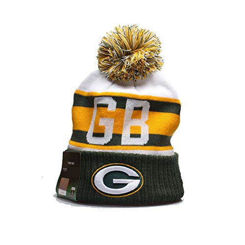 qooen 2019 New Fans Beanie hat Sideline Sport Fashion Knit hat Winter Pom Knit Hat Cap Team Logo