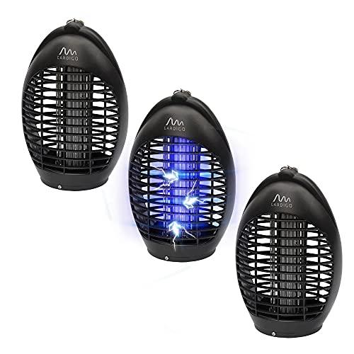 Gardigo Insektenvernichter 3er Set - 20m² I Insektenvernichter gegen Mücken I Insektenschutz, Insektenabwehr für drinnen I Elektrischer Mückenschutz mit UV Licht