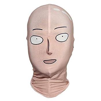 ONE Punch Man Saitama Face Mask Cosplay Hood