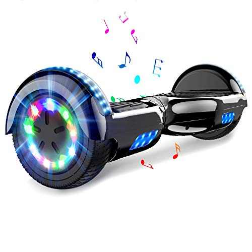COLORWAY Self Balancing Scooter 6.5 inch - Electric Scooter - Bluetooth Speaker LED lights & 700W Motor Gift for kids