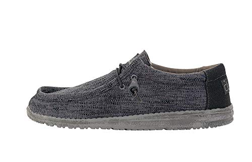 Hey Dude Men's Wally Woven Carbone, Size 11