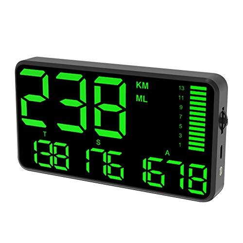 Dogggy Großbild 5,5 Zoll GPS Tacho Kilometerzähler Hud Digitalanzeige MPH/Kmh mit über Geschwindigkeit Alarm USB-Aufladung für Alle Autos Fahrzeuge LKW Fahrrad Motorrad Geschwindigkeit