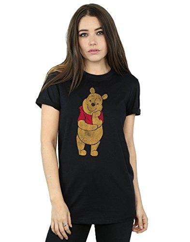 Disney Damen Winnie The Pooh Classic Pooh Boyfriend Fit T-Shirt Medium Schwarz