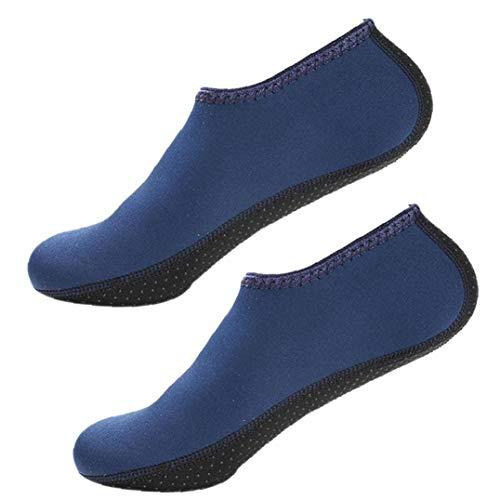 Aisoway Aqua Calcetines Zapatos De Agua Calcetines Yoga Zapatos Descalzos De Secado Rápido De La Resaca De Natación Para El Snorkel Kayak Surf Baño Vela Buceo Hombres De Las Mujeres - XXL