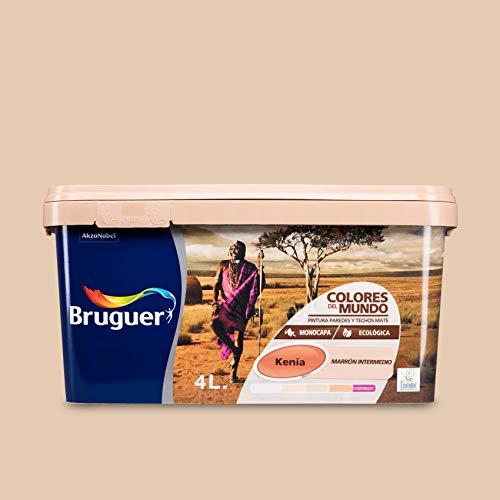 Bruguer Colores del Mundo Pintura para paredes monocapa Kenia Marrón Intermedio 4 L