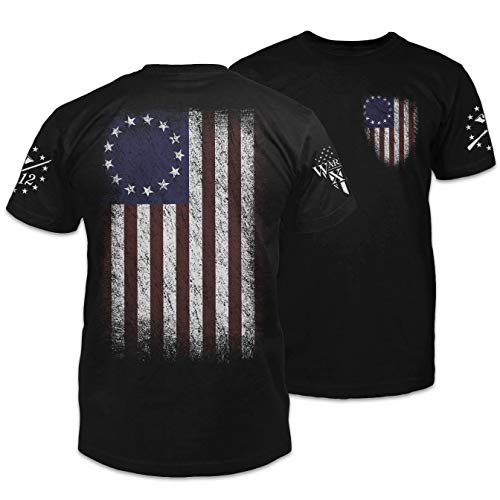 Warrior 12 Betsy Ross Flag Black