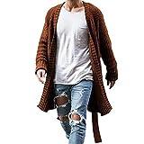 2021 moda nueva capa de punto de gran tamaño mantener caliente Cardigan hombres manga larga Midi suéter abrigo para el hogar