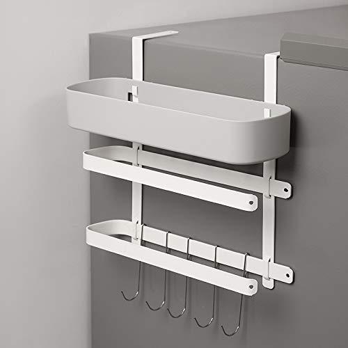 Hängeregal für Kühlschrank mit 5 Haken Kühlschrank Regal Hängeregal Kühlschrank Regal Magnet mit Rollenhalter/Handtuchhalter