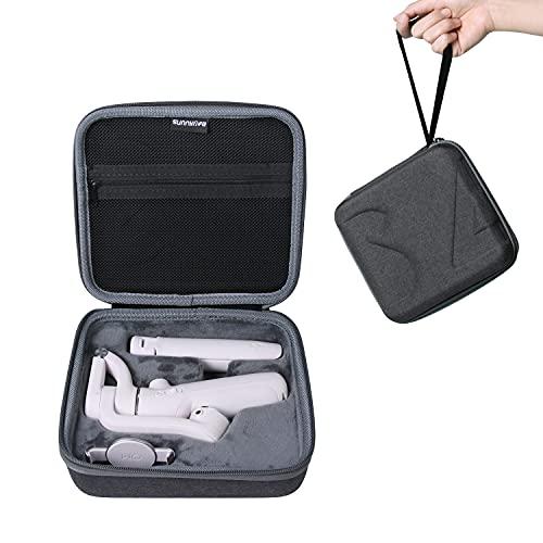 Tineer Custodia da trasporto portatile Borsa compatibile con DJI Osmo Mobile 5 Accessorio per la protezione del giunto cardanico portatile, Valigia protettiva da viaggio con guscio rigido