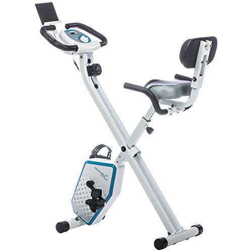 skandika Foldaway X-1000 PLUS - Cyclette/Fitnessbike - pieghevole - Bluetooth + supporto per Tablet (nero)