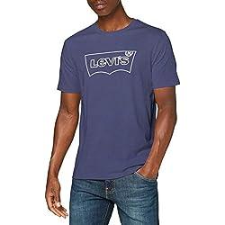 Nueva versión de la camiseta Levi's original en tono azul marino y contorno del logo