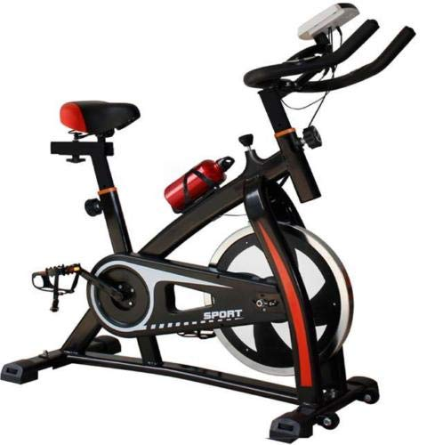 2020 Nuevo Deporte Aeróbico Bicicleta Estudio de Entrenamiento Interior Fitness Cardio Bike Ciclismo Hogar Fitness Gimnasio Monitor LED (Botella de Agua Incluida) (Negro/Rojo)