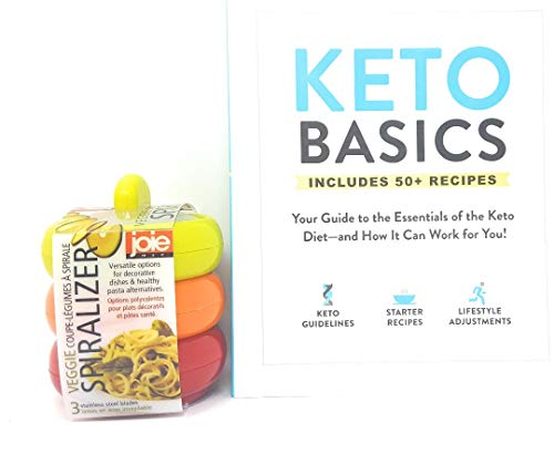 Several Keto Basic Tool Kit: (1) Joie Spiralizer and (1) Keto Basics: Your Guide to The Essentials of The Keto Diet―and How It Can Work for You!