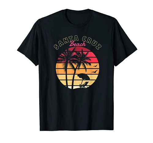 Santa Cruz Vintage Beach Sunset California Santa Cruz Summer Camiseta