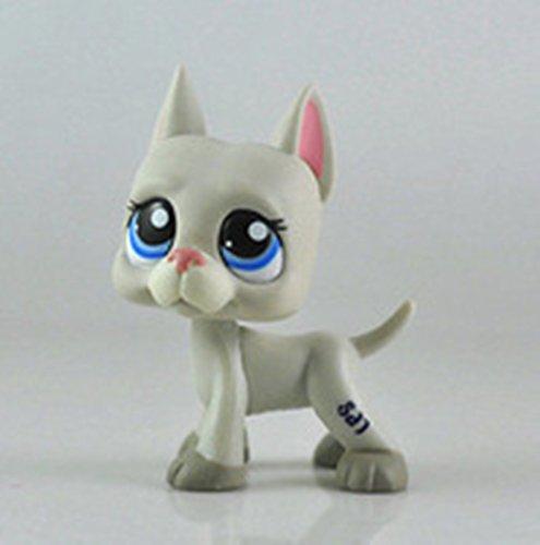# 1688Littlest Pet Shop raras gran danés perro cachorro gris gris rosa azul LPS