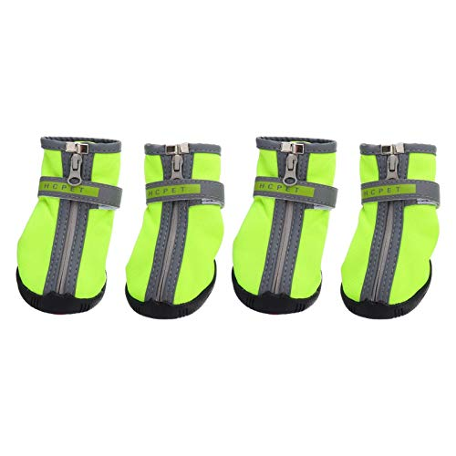 VILLCASE 2 Pares de Botas para Perros Zapatos Antideslizantes de Invierno para Mascotas Botas de Nieve para Perros con Correas Ajustables Protector de Patas de Perro para Caminar en S