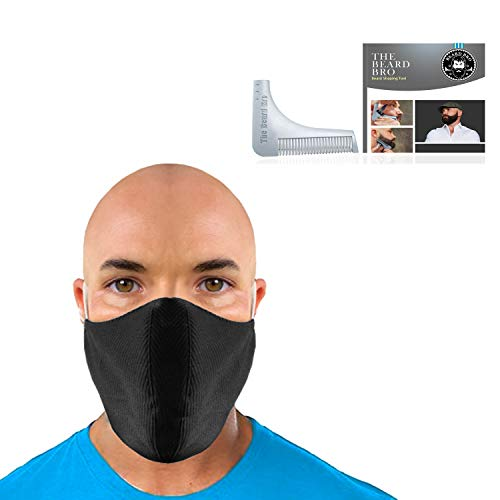 New Black Mask Face Mask Face Mask Washable Oversized Mask For Beards with Complete Beard Shaping Tool for Beard Care Kit