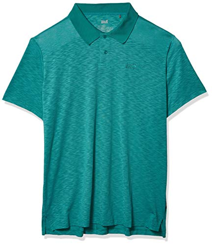 Jack Wolfskin Travel Polo Homme Polo Homme Emerald Green FR : 3XL (Taille Fabricant : XXXL)