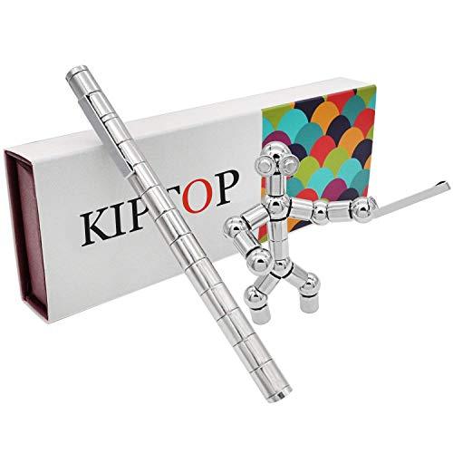 KIPTOP Magnetstift Interessantes Kombinationsspielzeug | Wunderbaren Magnetischer Kugelschreiber | Fidget Toy Geschenk | Stylus Stift | kreative Jungen Geburtstagsgeschenk (Silber)