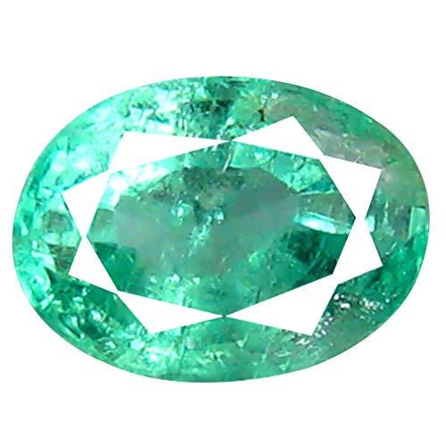 Smeraldo colombiano, taglio ovale da 0,63 ct (6 x 4 mm)