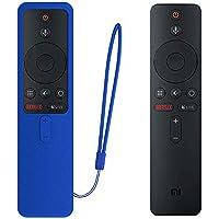 SIKAI Funda Protectora para MI TV Box S EU Mando a Distancia Carcasa de Silicona Resistente a Golpes para MI Box S Remote Antipolvo Antipérdida Protective Skin (Azul)