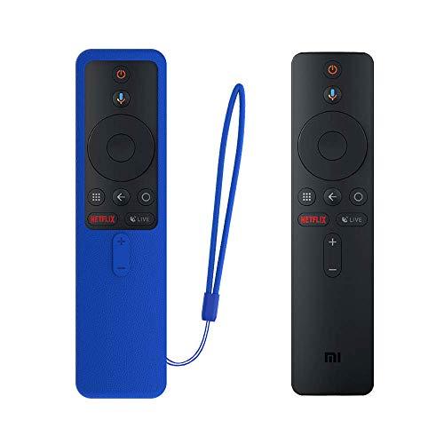 SIKAI CASE Ajusta Proteger el Mando Compatible con Xiaomi TV Box S/Xiaomi Mi TV Stick Control Remoto, Funda de Silicona Resistente a Golpes, Arañazos Shockproof Adapta,Protege de Caidas (Azul)