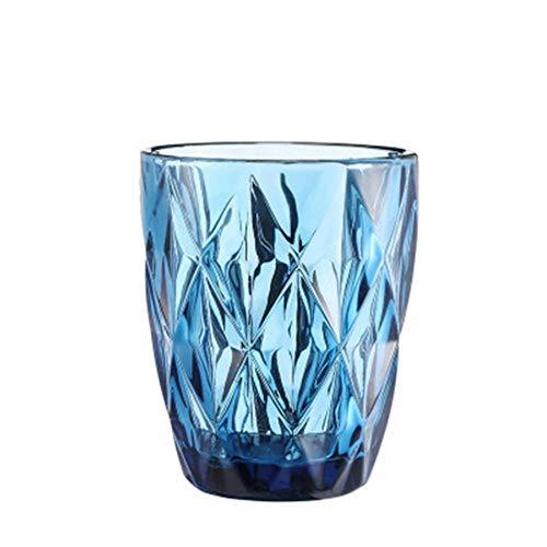 DIF glas reliëf wijnbeker hittebestendige waterbeker wijnglazen Whiskey thee rechte drank mok voor partij