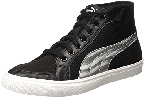 Puma Men's Black Silver Sneakers-9 UK/India (43 EU) (4060978174710)