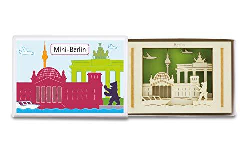 Mini-Silhouette in Streichholzschachtel Motiv Berlin